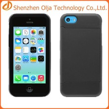 Silicon+pc phone case for iphone 5c,for iphone 5c case with card slot,for apple iphone 5c silicon case