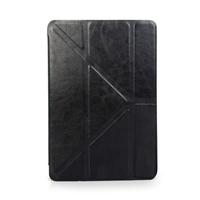 Simple PU leather black flip case tablet fit for ipad mini