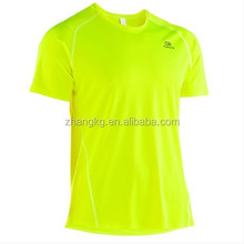 Wholesale breathable quick try t shirt/100%polyester material t shirt