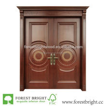 Hot Double Teak Wood Main Door Design