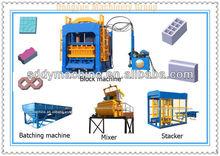 high productivity block material machine QT6-15B concrete brick making success