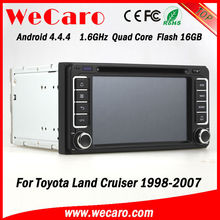Wecaro hot sale A9 Fast CPU car dvd gps with android for toyota hilux 2005 GPS navigator TV Radio tuner CD Player