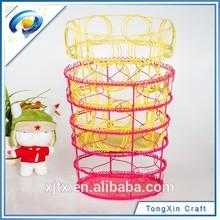Venta al por mayor barato de alambre de hierro de malla de almacenamiento cesta