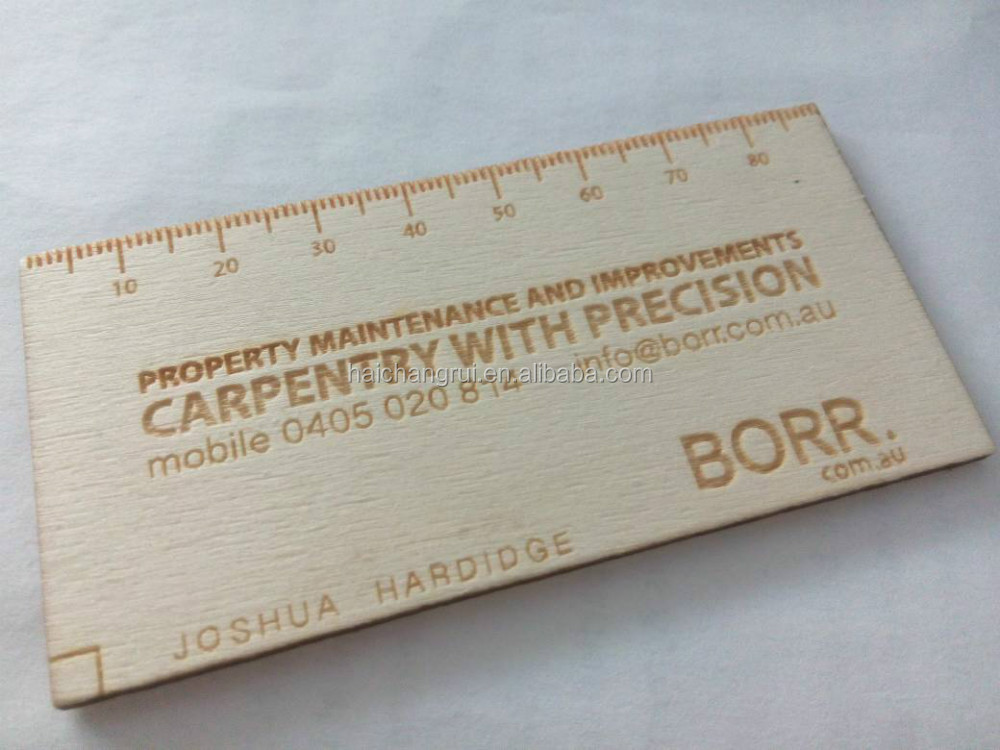 Laser Cut & Engrave Wooden Business Card Buy Laser