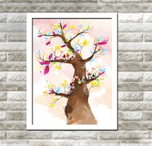 XQ5 Colorful Tree Design Home Decor Art Abstract Painting