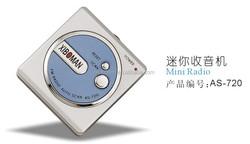 AS - 720 Creative Design Good Quality mini radio with light