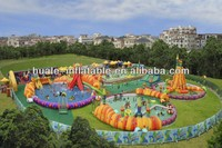 Swimming Pool inflatable water park, inflatable water game toys, inflatable water fantasy land