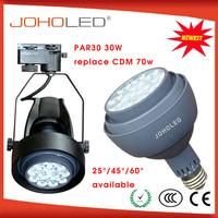 2400lm Ra80 Cree/Edison/Osram led par light par30 high bright high warranty cob led downlight 30w