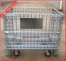 foldable galvanized Folding And Stackable Storage Cage