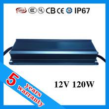 5 years warranty high PFC 12v 120w waterproof LED power supply