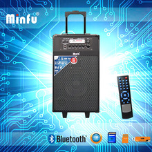 USB SD FM AUX input trolley speaker