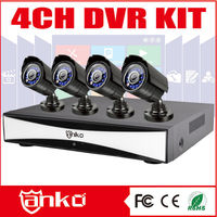 New Arrival h 264 8 channel dvr KITS AHD DVR KITS with 4 Bullet cameras