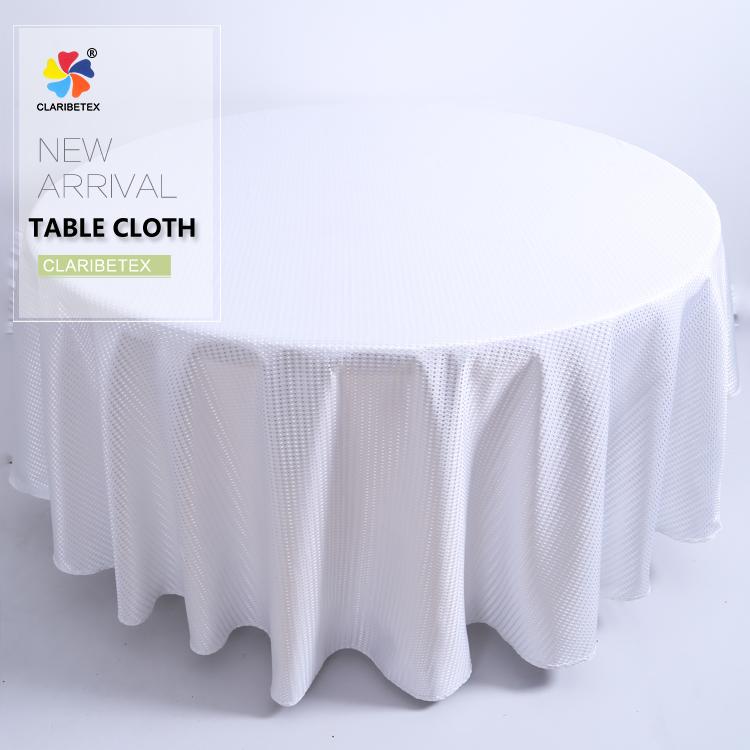 新しいデザインclaribelテックスポリエステル花びらテーブルクロス