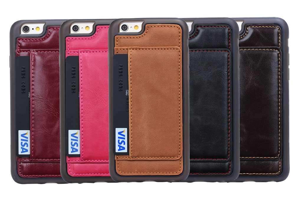 Brg Leather + Tpu Ultra Slim Protective Wallet Case For Apple ...