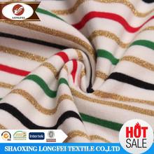 Longfei Textile Knit Poly Spun Single Jersey Printed Red And White Stripe Fabric