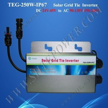 Safely DC TO AC grid tie 24v 220v waterproof inverter 250w