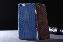 High Quality Genuine Flood Snake Leather Case for iPhone6/ 6 Plus