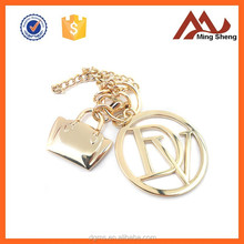 high quality metal letter and lock hanging charm pendant