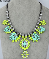 Shourouk Jewelry Of Neon Gemstone Flower Necklace