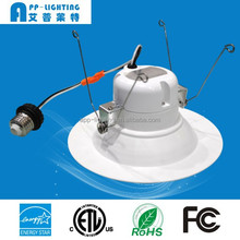 lower price high light efficiency CRI90 dimmable led downlight with ES UL ETL