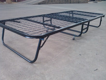 Powder Coating Metal Guest Bed With Foam Mattress