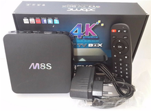 M8S Android TV Box 2G/8G Dual band 2.4G/5G wifi Android 4.4 Amlogic S812 Chip 4K XBMC Full HD Smart tv Media Player m8