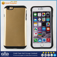 [NP-2141]2-in-1 case, frosted matte TPU inner + glossy hard polycarbonate outer shell, for iPhone 6 plus