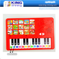 Panel sound board book with musical instrument pads
