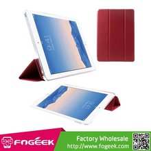 Paypal Accepted For iPad Air 2 Tri-fold Stand Smooth PU Leather Smart Cover