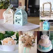 UNDER THE SEA .Laser cut sea shell favors,wedding cupcake wrapper sea
