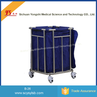 Movable Stainless Steel laundry basket with wheels