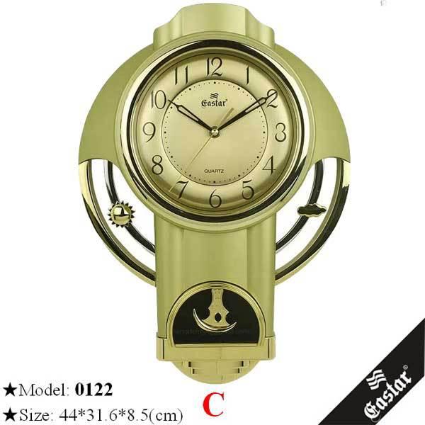 Golden Decorative Fancy Pendulum Wall Clock Wholesale - Buy Fancy Pendulum Clcok,Golden ...