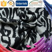 China direct manufacturer polyester 50D/ 75GSM zebra print fabric for dress