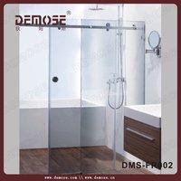 top sale l shaped shower bath/sliding glass shower screen