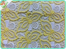 chemical lace embroidery fabric lace fabric market in dubai CM-013