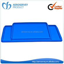 New design inflight product ABS blue plastic party tray