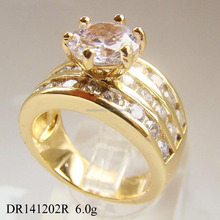 Lux Couple's Jewelry Fashion Engagement Lover's Ring Gold plated