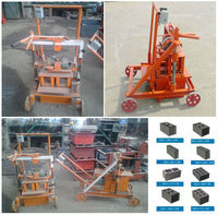 LOW PRICE DIESEL ENGINE MOVABLE MANUAL HOLLOW BLOCK MAKING MACHINE FOR SALE