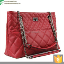 2015 Fashion embroidery genuine leather bag manufacturers in Gunagzhou with low price