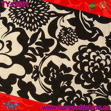 2012 fancy flower printed cotton stretch satin drill fabric for lady's dress