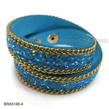 Top Selling South Korea Velvet Bracelets Rhinestone Bracelet