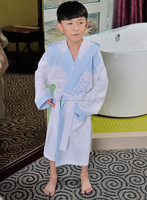 Promotional patterned cotton waffle boys quick-drying bathrobe for kids
