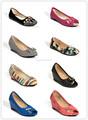 oem flattie señora de cuero de las señoras zapatos fabricados en el brasil