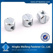 Ningbo Zhejiang China manufacturers&suppliers brass barrel nuts and bolts, furniture connecting screws, furniture screw