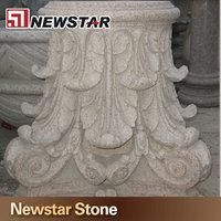 Roman column natural stone pillar capital