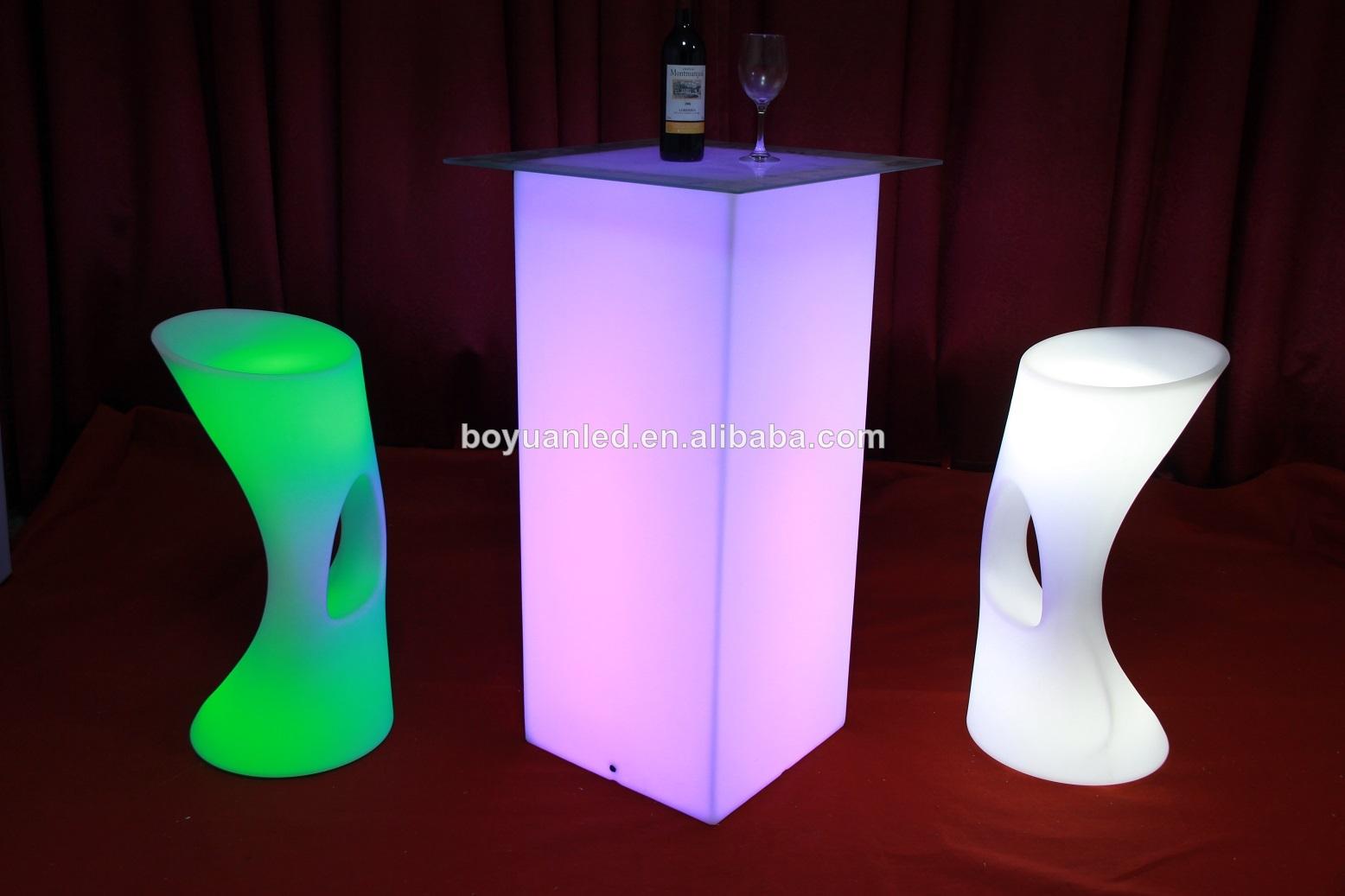 Camping en plastique tabouret de bar chaise haute led chaise tabouret de bar - Tabouret de bar en plastique ...