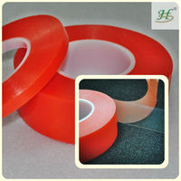 10mm X 50M Clear Strong Polyester Double Sided Pet Film Polyester Adhesive Tapes