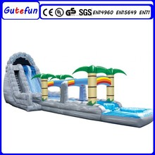 GUTEFUN adult outdoor inflatable water park games large water slide with pool for sale