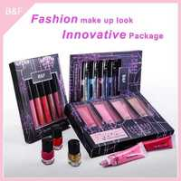 fashion cosmetics sets innovative package bamboo handle cosmetic brush