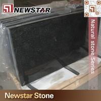 Newstar Stone polished shinny black granite,black galaxy granite